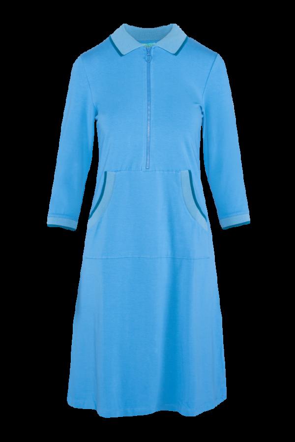 Zipper Dress Kangaroo Plain CO (LASU 2180) Dresses Image 5