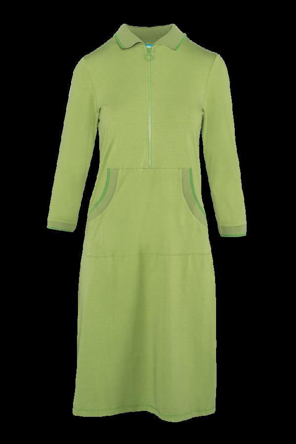 Zipper Dress Kangaroo Plain CO (LASU 2180) Dresses Image 4