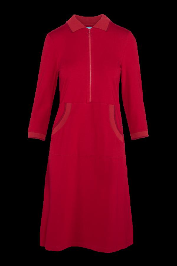 Zipper Dress Kangaroo Plain CO (LASU 2180) Dresses Image