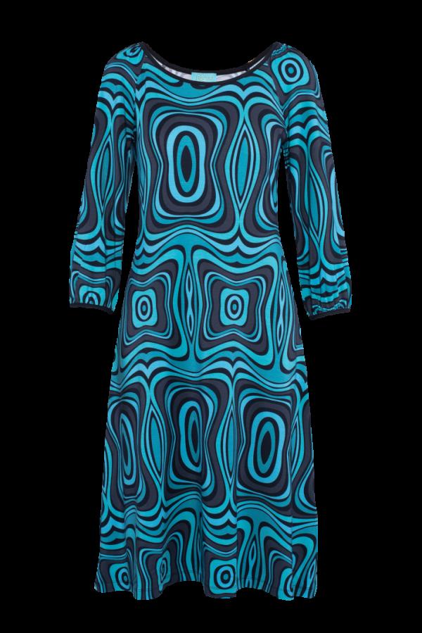 Flared Dress Puffed Sleeves Wave (LASU 2121) Dresses Summer 21 Image 6