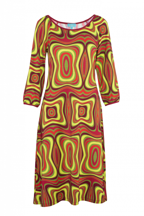 Flared Dress Puffed Sleeves Wave (LASU 2121) Dresses Summer 21 Image 5