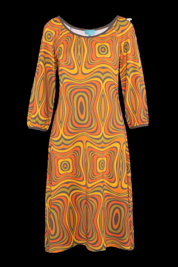 Flared Dress Puffed Sleeves Wave (LASU 2121) Dresses Summer 21 Image 3