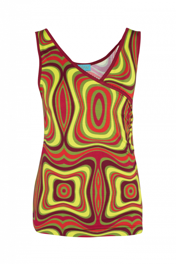 Wrap Singlet Wave (LASU 2124) Singlets & Shirts Summer 21 Image 5