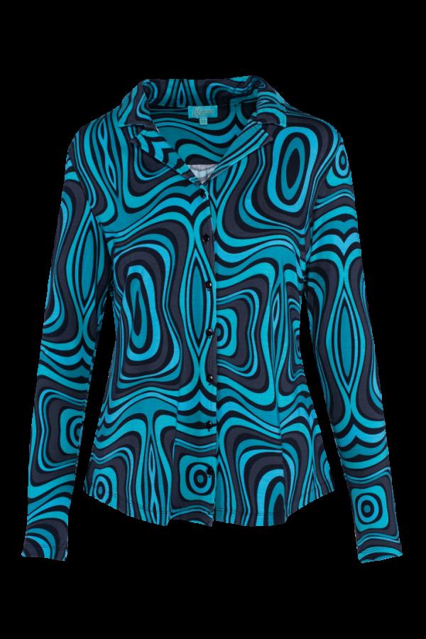 Blouse Long Sleeves Wave (LASU 2125) Blouses Image 6