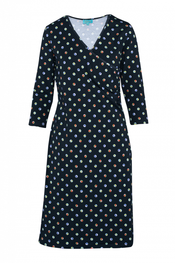 Classic Wrap Dress Marble (LASU 2141) Dresses Summer 21 Image 6