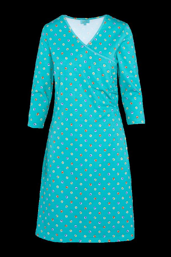 Classic Wrap Dress Marble (LASU 2141) Dresses Summer 21 Image 4