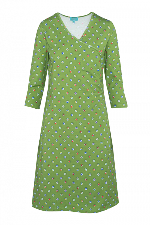Classic Wrap Dress Marble (LASU 2141) Dresses Summer 21 Image 5