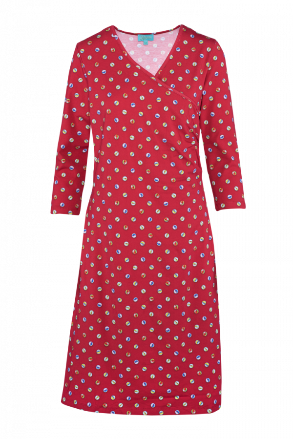 Classic Wrap Dress Marble (LASU 2141) Dresses Image