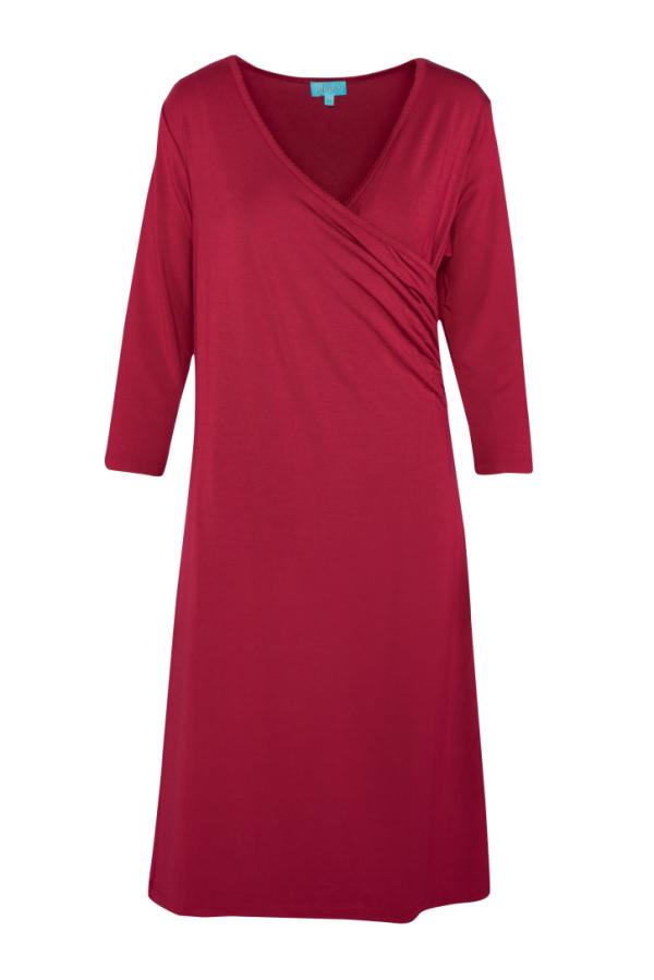 Classic Wrap Dress Plain (LASU 2150) Dresses Summer 21 Image 4