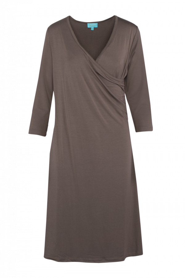 Classic Wrap Dress Plain (LASU 2150) Dresses Image
