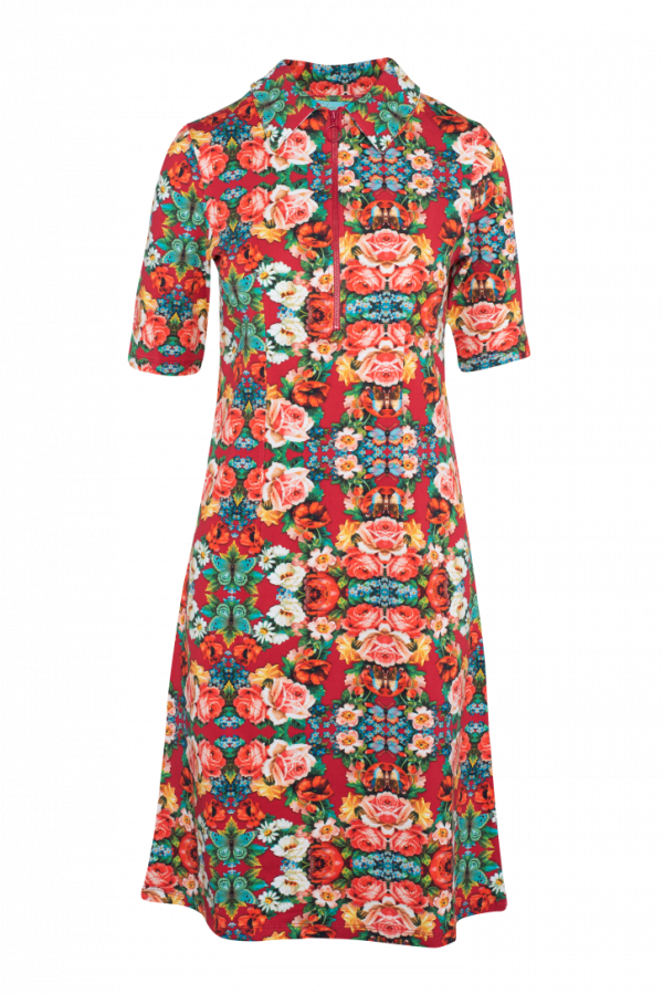Zipper Dress Rose (LASU 2161) Dresses Image 3
