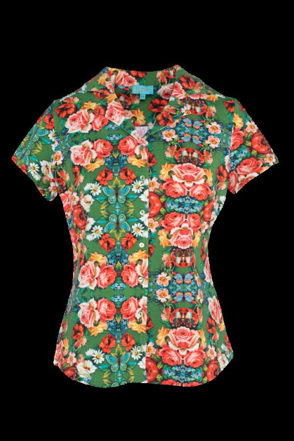 Blouse Short Sleeves Rose (LASU 2164) Blouses Image 4