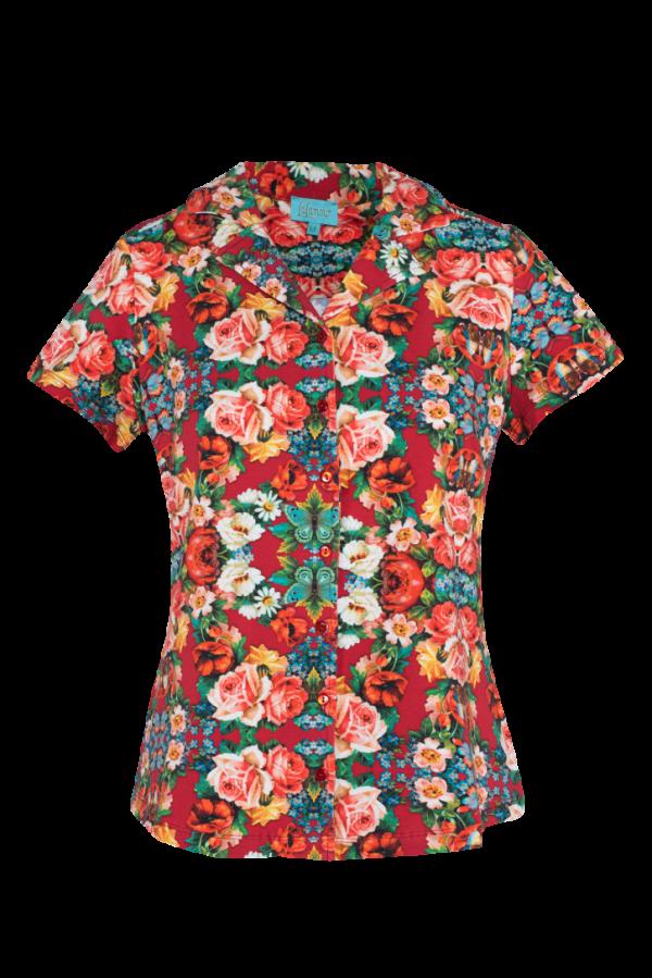 Blouse Short Sleeves Rose (LASU 2164) Blouses Image 3