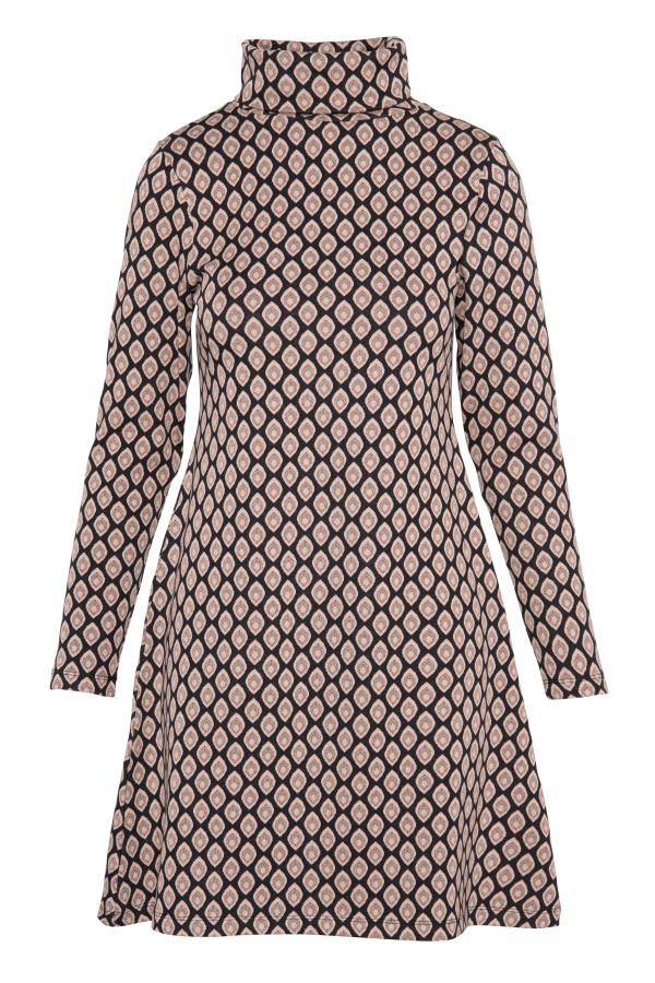 Flaired Dress Turtle Neck Drop (LAWI_2161) Dresses Winter 21 Image