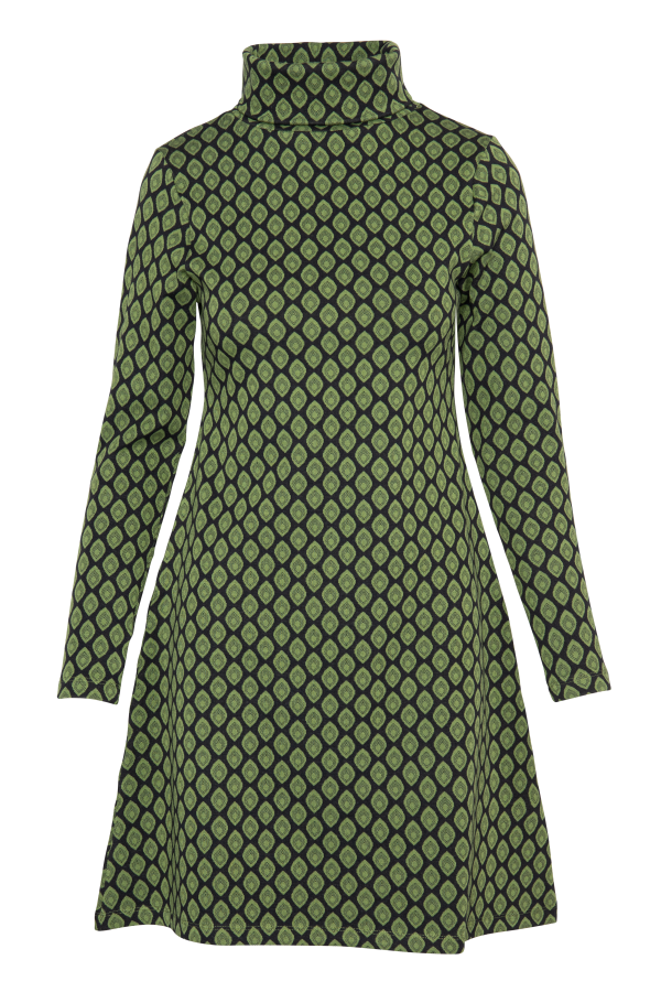 Flaired Dress Turtle Neck Drop (LAWI_2161) Dresses Winter 21 Image 4