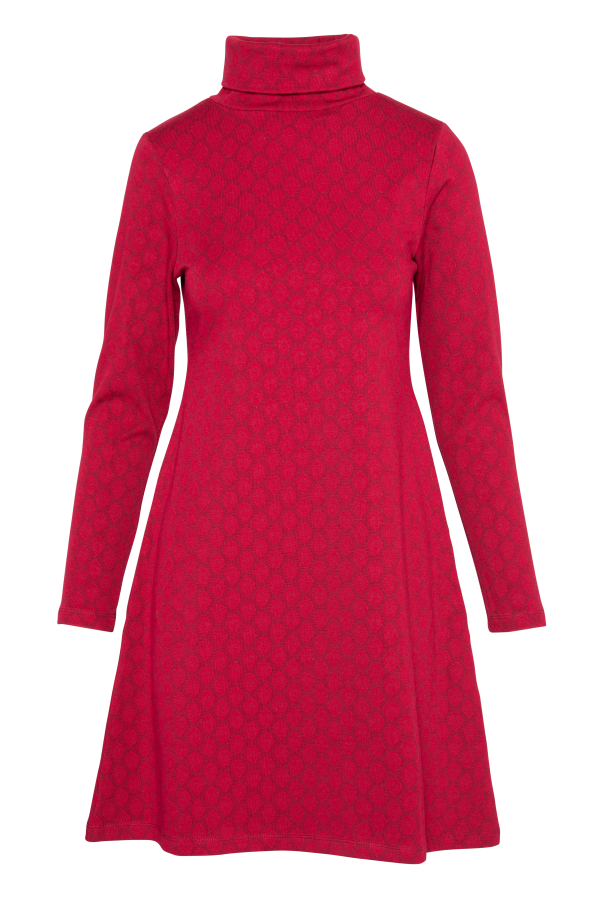 Flaired Dress Turtle Neck Drop (LAWI_2161) Dresses Winter 21 Image 3