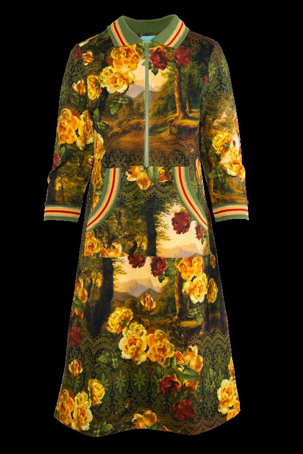 Zipper Dress Kangaroo (LAWI_2130) Dresses Winter 21 Image 2