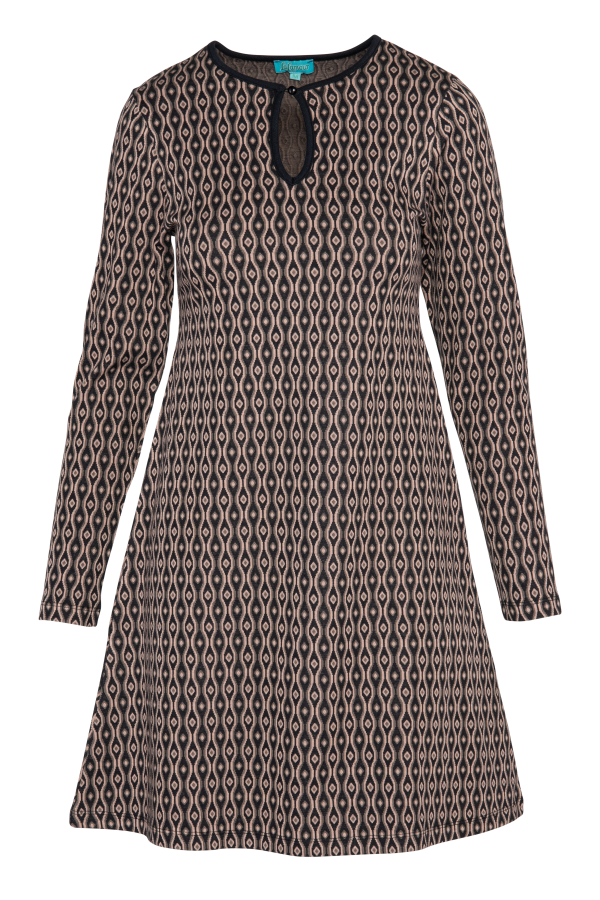 Flaired Dress High Neck Eye (LAWI_2171) Dresses Winter 21 Image 4
