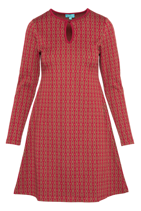 Flaired Dress High Neck Eye (LAWI_2171) Dresses Winter 21 Image 3