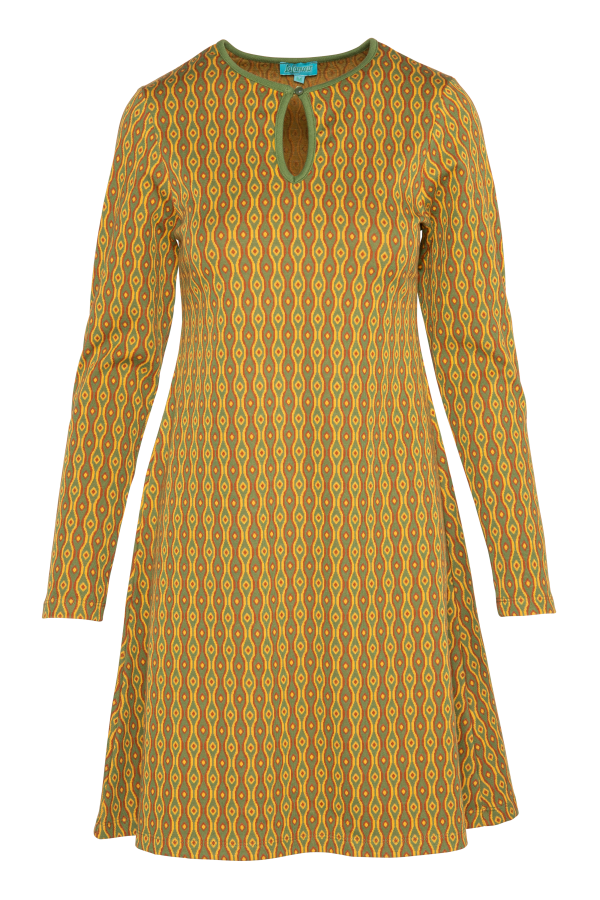 Flaired Dress High Neck Eye (LAWI_2171) Dresses Winter 21 Image
